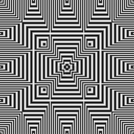 Photo pour Illusion d'optique abstraite générée numériquement motif sans couture avec effet de chatoiement et de volume . - image libre de droit