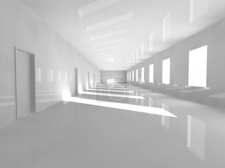 empty showroom 3D rendering