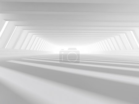Empty white open space 3D rendering