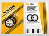 Vector automotive portrait template Backgrounds for poster print flyer advertisement booklet brochure and leaflet design Editable graphic image in white yellow oramge and black colors