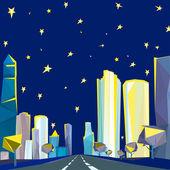 01 Polygonal night cityscape