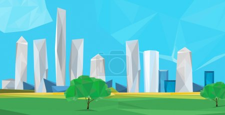 polygonal cityscape