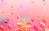03 Transparent hearts background