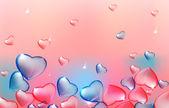 02 Transparent hearts background