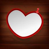 04 pinned heart on wood