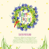 The illustration of  beautiful Easter background Vector image for postcards and banners