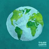 01 Globe watercolor eco concept
