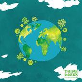 02 Globe watercolor eco concept