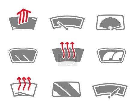 Car window icons