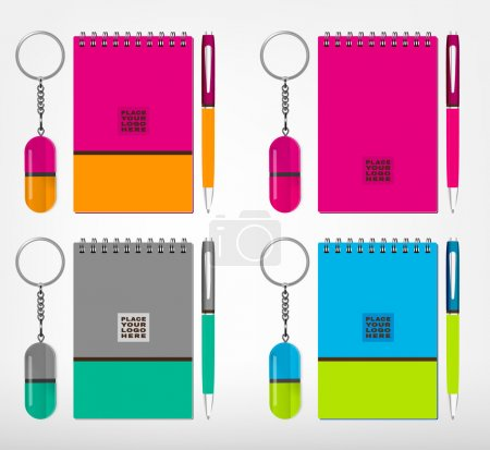 Souvenirs template Vector illustration