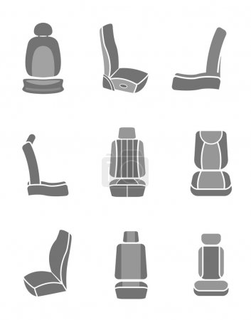 Car Seat icons 06 A