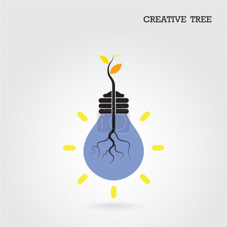 Illustration for Creative and knowledge tree concept. Education and business sign. Vector illustration - Royalty Free Image