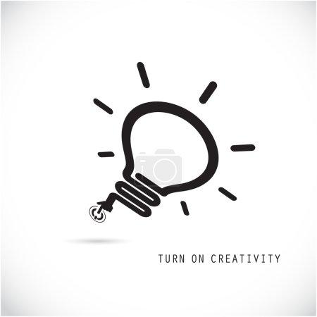 Turn on Creative light bulb concept. Business idea and education