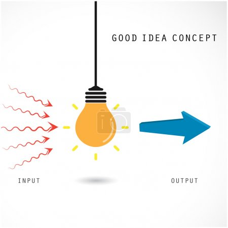 Creative light bulb concept. Business idea and education concept