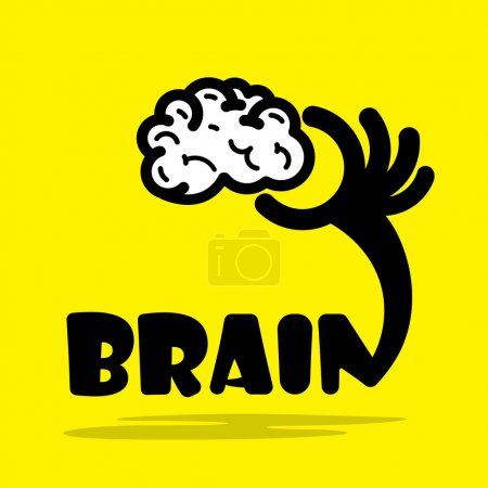 Creative brain sign idea,flat design.Concept of ideas inspiratio