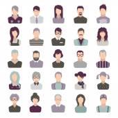 Set di icone. persone. isolato