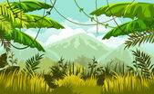 """Постер, картина, фотообои """"Тропическая природа пейзаж"""""""
