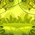Jungle background. vector illustration....