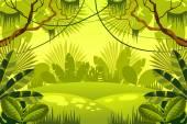 "Постер, картина, фотообои ""джунгли фон. лес."""