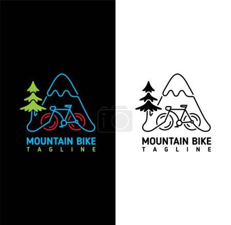 Illustration for Mountain bike logo design illustration vector eps format , suitable for your design needs, logo, illustration, animation, etc. - Royalty Free Image