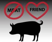 Pig is friend, not food