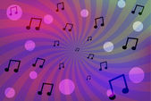 Abstract music twister color background