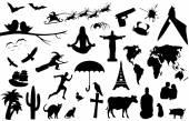 Big set of many interesting silhouettes