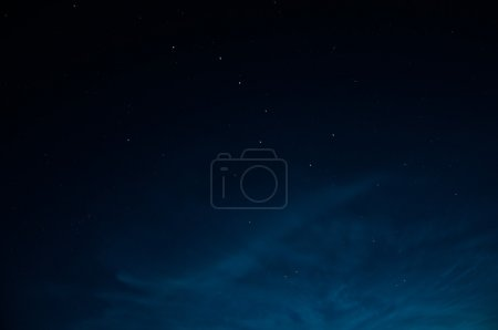 Photo for Beautiful night sky  with stars. The constellation URSA minor - Royalty Free Image
