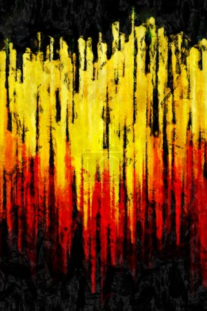 Sunset abstraction impressionism drawing or abstra...