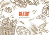 Bread design template Bakery set