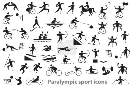 Paralympic sport icons