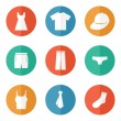 Clothes icons, concept web buttons vector sign...