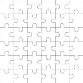 Jigsaw puzzle blank template 36 pieces