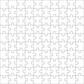 Jigsaw puzzle one hundred blank shapes