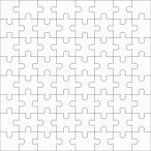 Jigsaw puzzle sixty-four blank shapes