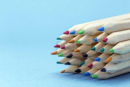Photo pour Texture des crayons de couleur - image libre de droit