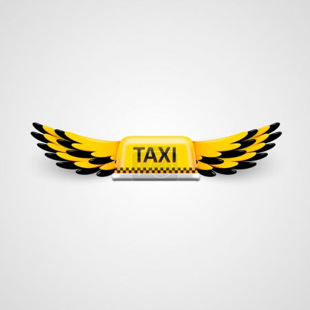 Illustration pour Logo d'entreprise de taxi. concept de taxi volant. Illustration vectorielle - image libre de droit