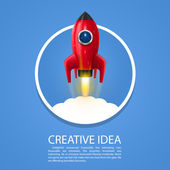 Space rocket launch art creative Vector illustration