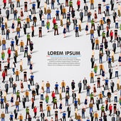 Large group of people background Vector illustration