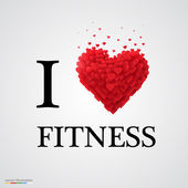 i love fitness heart sign