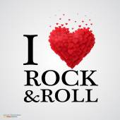 i love rock and roll heart sign
