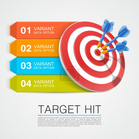 Graphic information target with darts