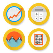 Set of flat accounting icons