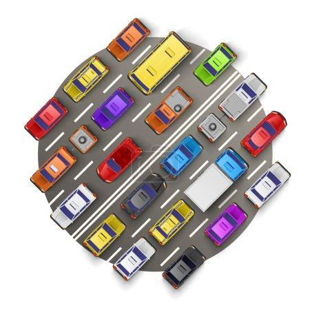 Illustration pour Bannière art embouteillage art. Illustration vectorielle - image libre de droit