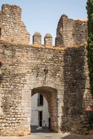 Old Wall entrance of the Castle in Serpa