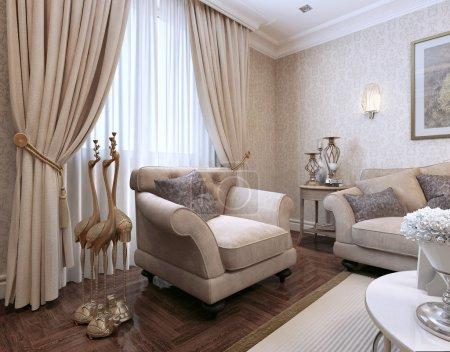 Photo pour Style classique Famille. Visualisation 3D - image libre de droit