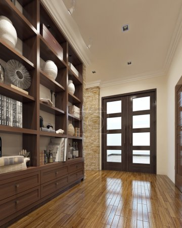 Photo for Modern closet in the hallway. 3d render - Royalty Free Image