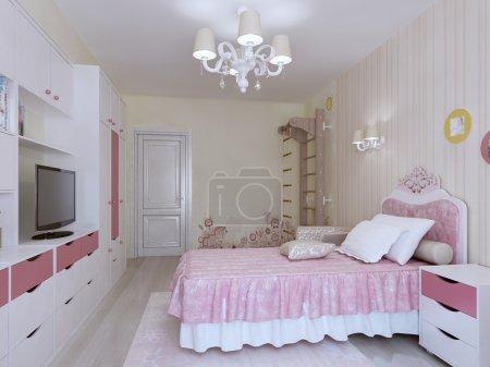 Bedroom with swedish wall interior