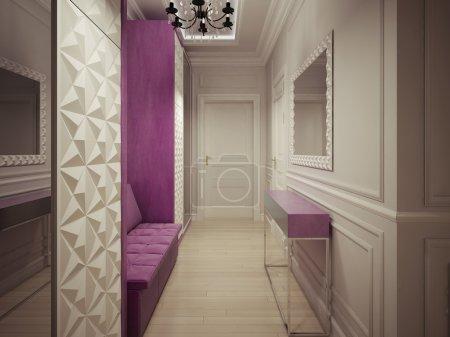 Photo pour Design de luxe de corridor. rendu 3D - image libre de droit