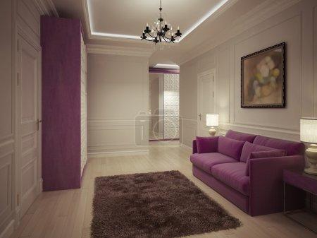 Photo pour Design de luxe entrée hall. rendu 3D - image libre de droit